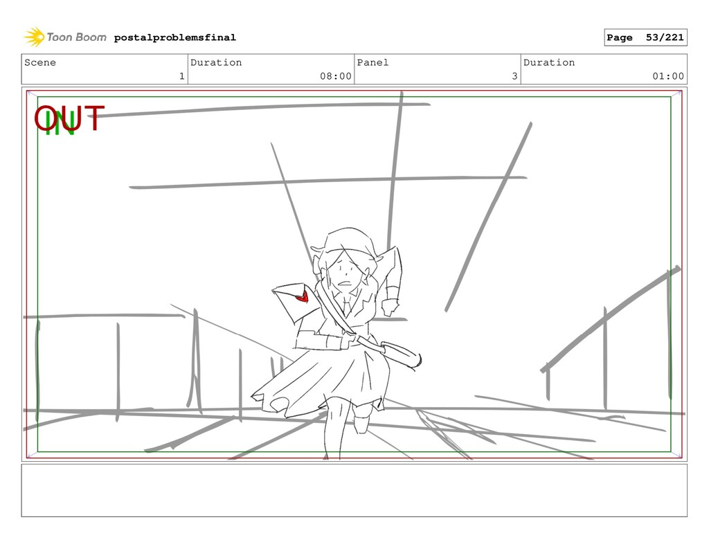 Scene 1 Duration 08:00 Panel 3 Duration 01:00 p...