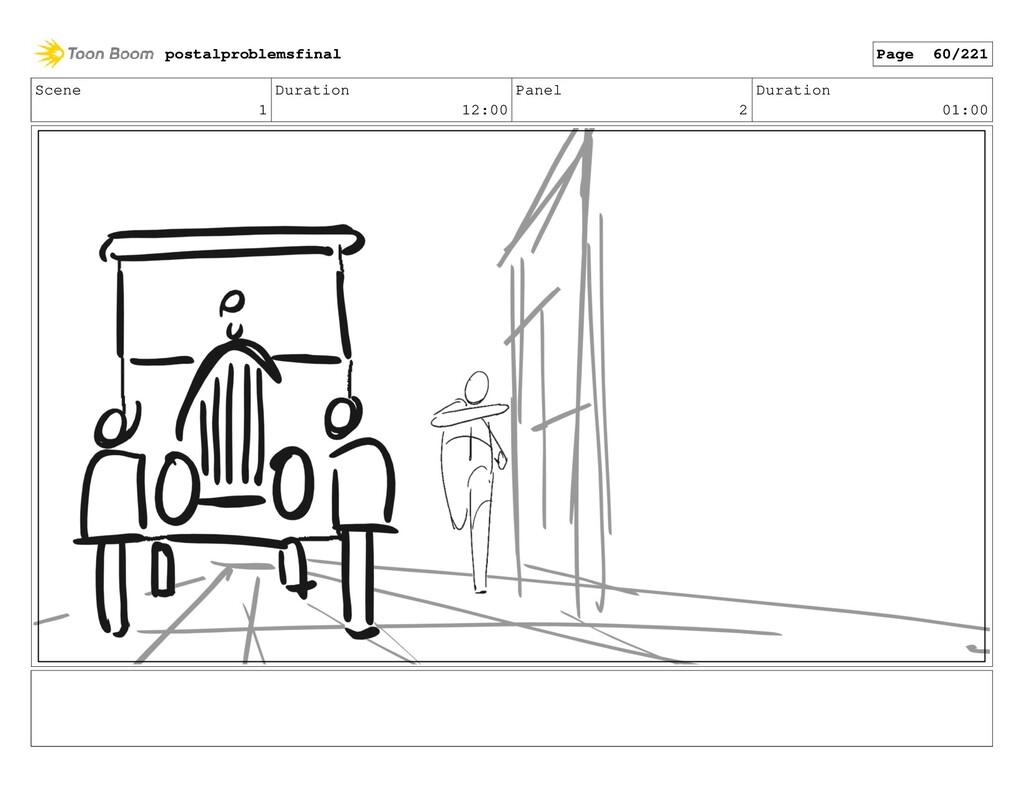 Scene 1 Duration 12:00 Panel 2 Duration 01:00 p...