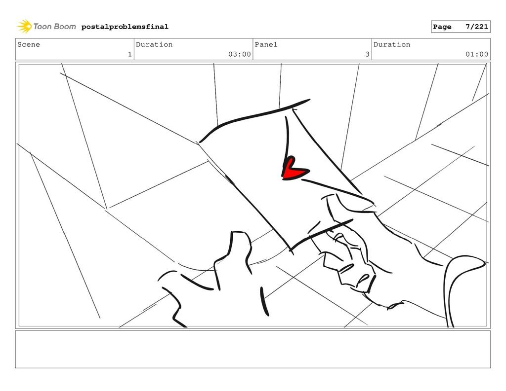 Scene 1 Duration 03:00 Panel 3 Duration 01:00 p...