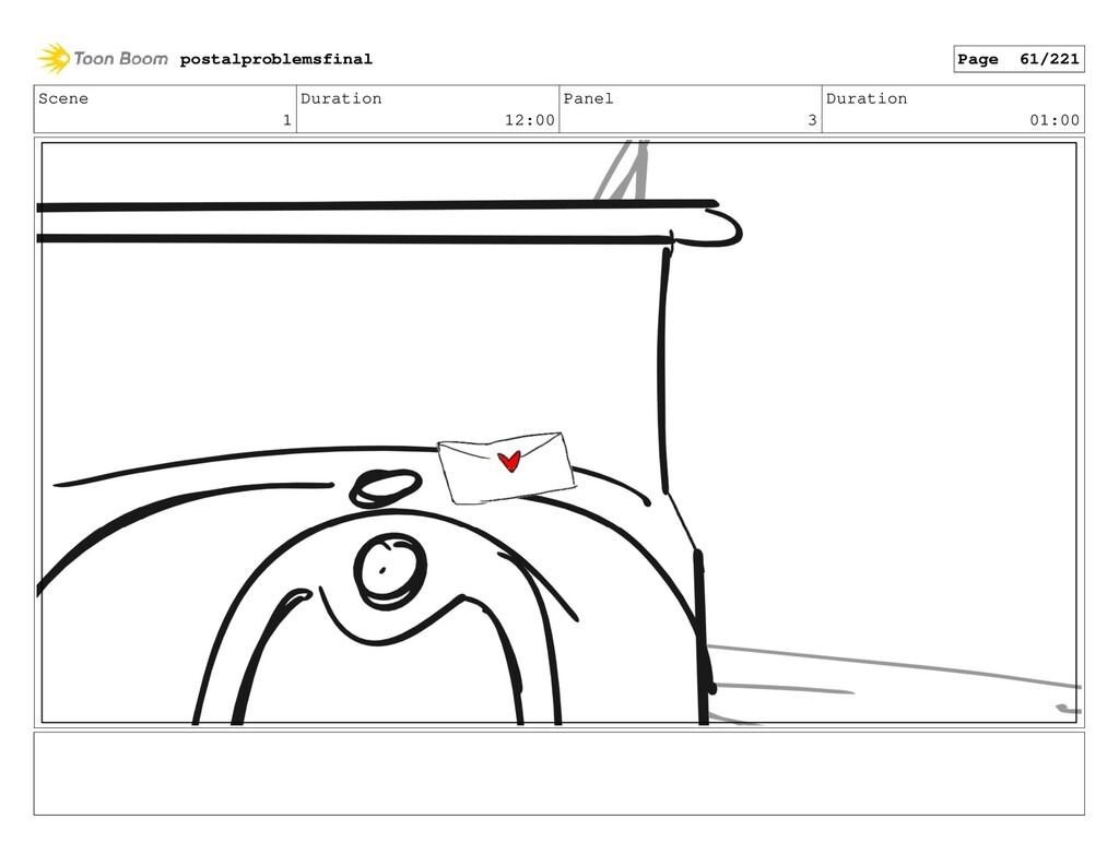 Scene 1 Duration 12:00 Panel 3 Duration 01:00 p...