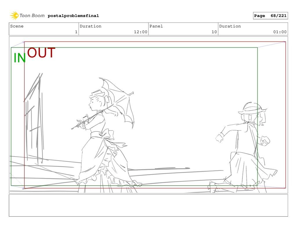 Scene 1 Duration 12:00 Panel 10 Duration 01:00 ...