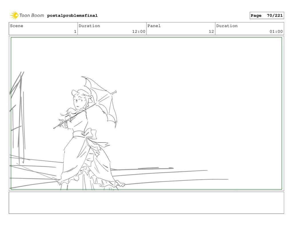 Scene 1 Duration 12:00 Panel 12 Duration 01:00 ...