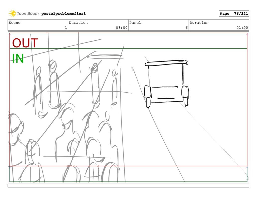 Scene 1 Duration 08:00 Panel 6 Duration 01:00 p...
