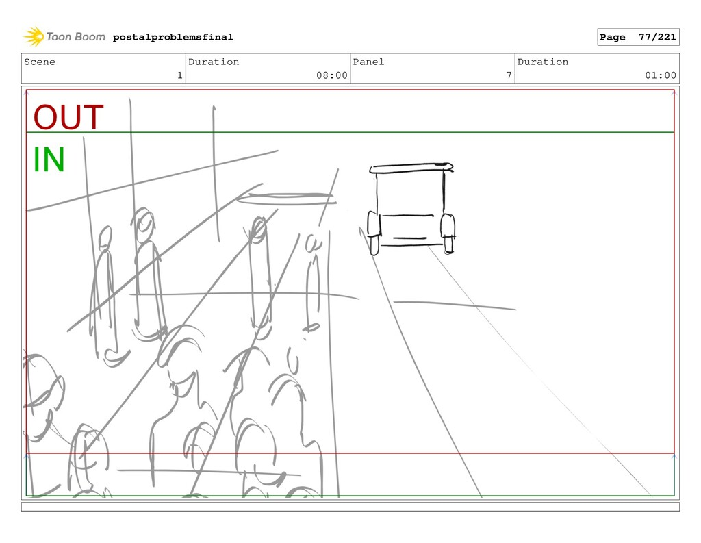 Scene 1 Duration 08:00 Panel 7 Duration 01:00 p...