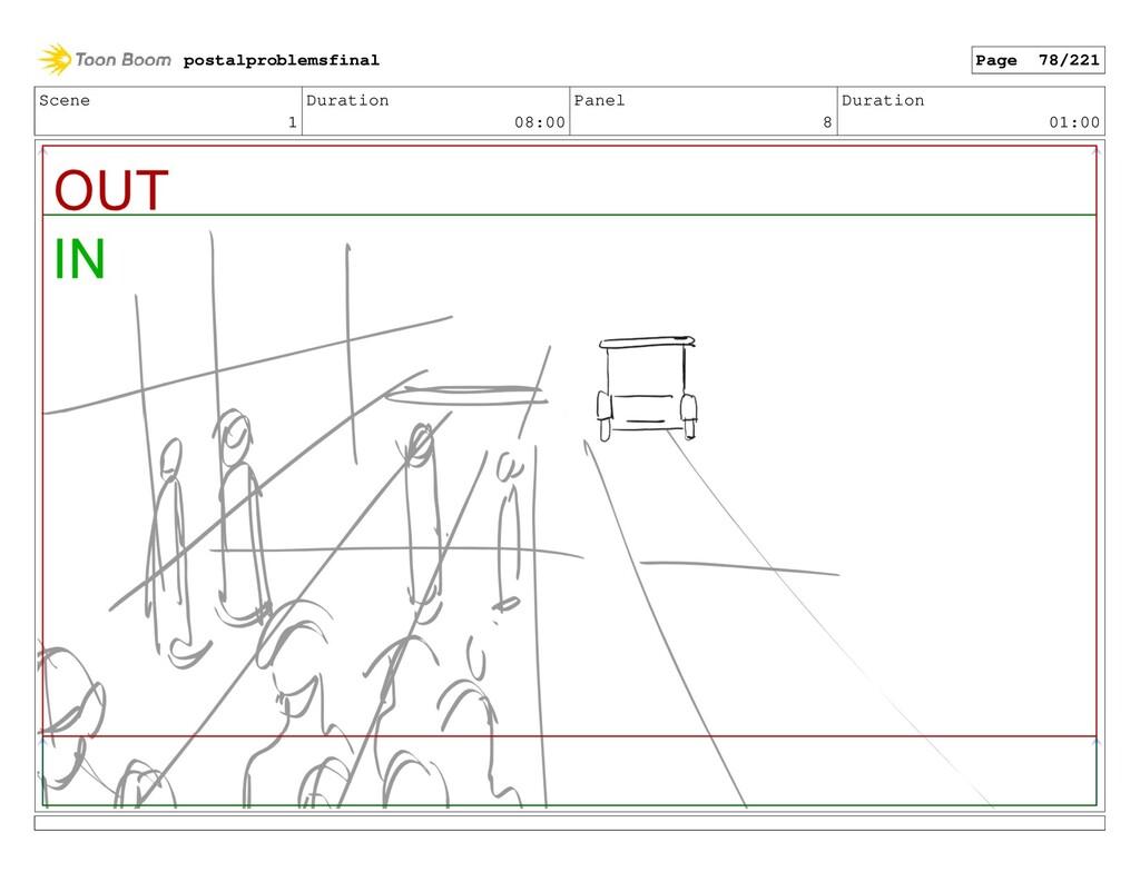 Scene 1 Duration 08:00 Panel 8 Duration 01:00 p...