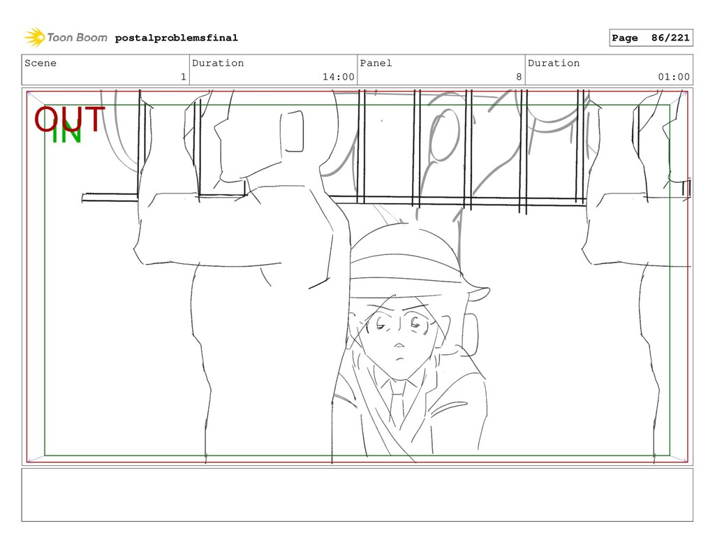 Scene 1 Duration 14:00 Panel 8 Duration 01:00 p...