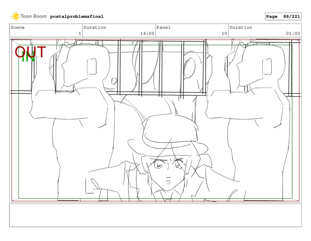 Scene 1 Duration 14:00 Panel 10 Duration 01:00 ...