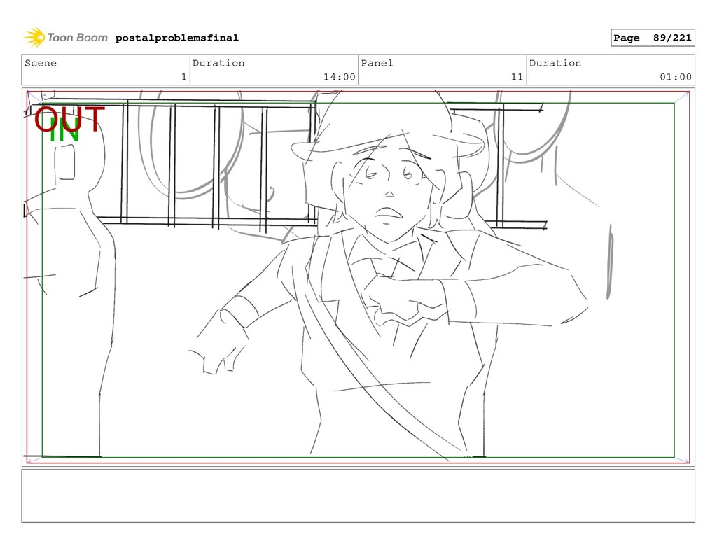 Scene 1 Duration 14:00 Panel 11 Duration 01:00 ...
