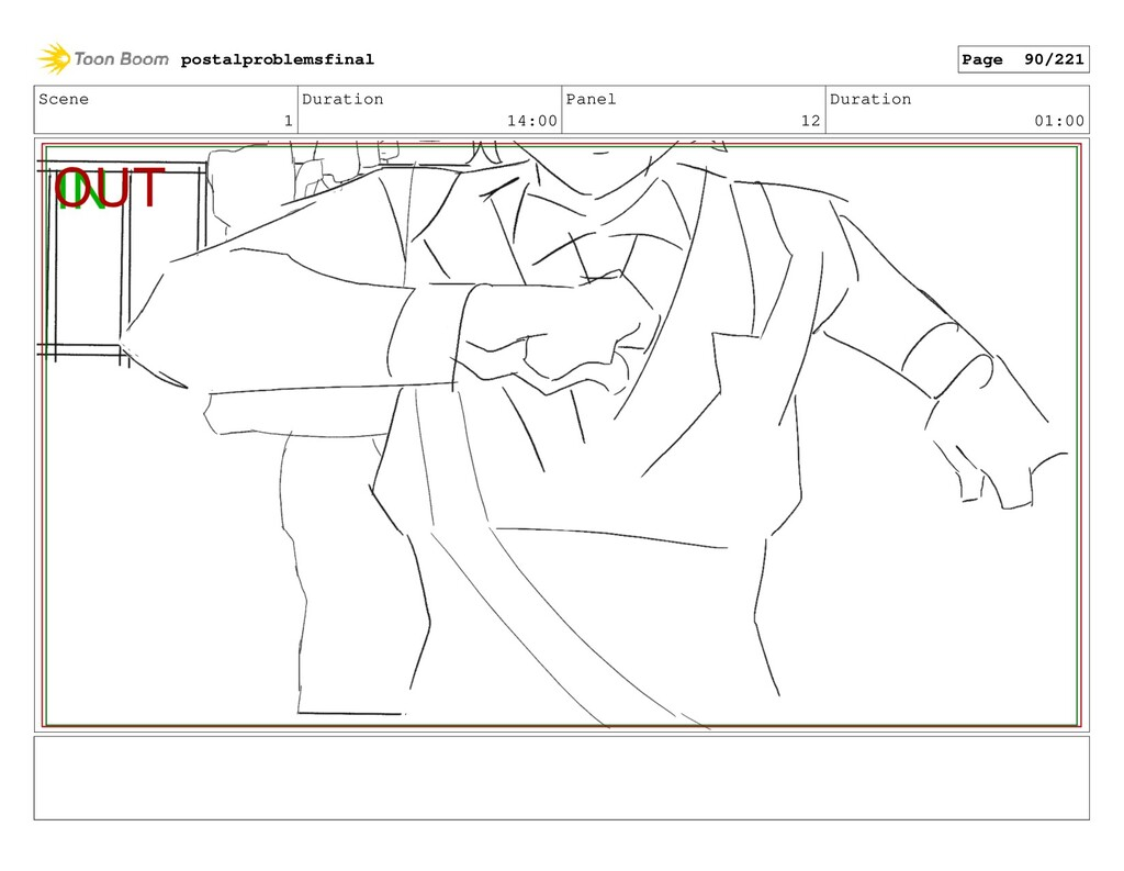 Scene 1 Duration 14:00 Panel 12 Duration 01:00 ...