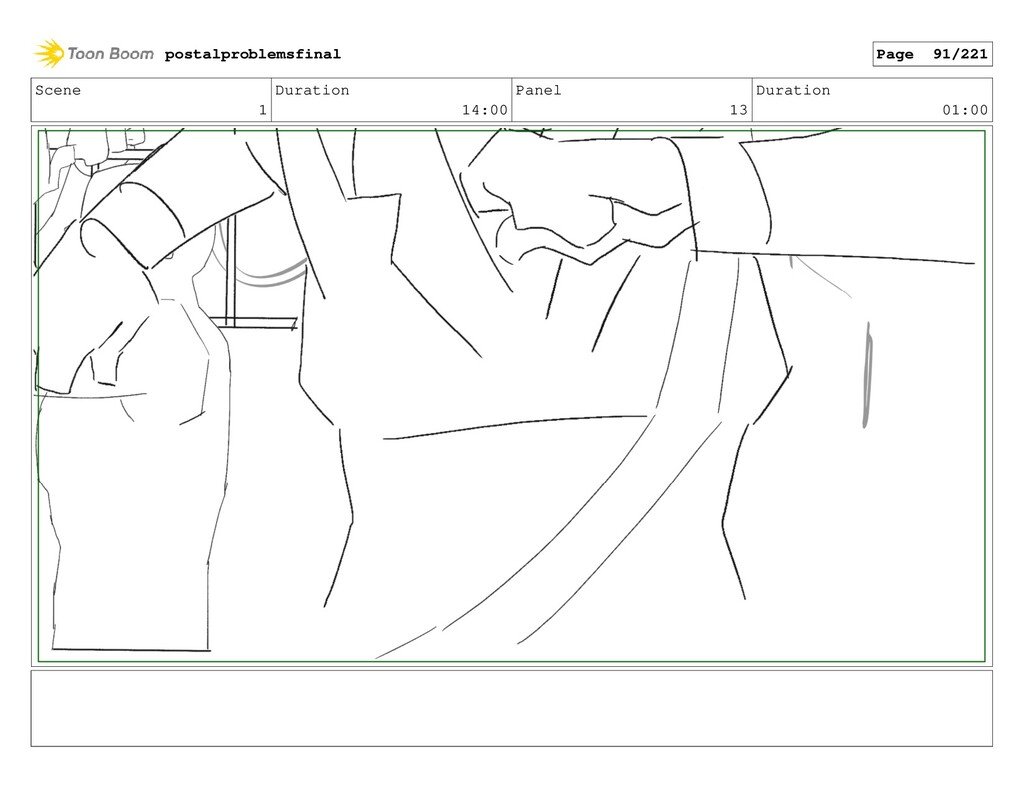Scene 1 Duration 14:00 Panel 13 Duration 01:00 ...