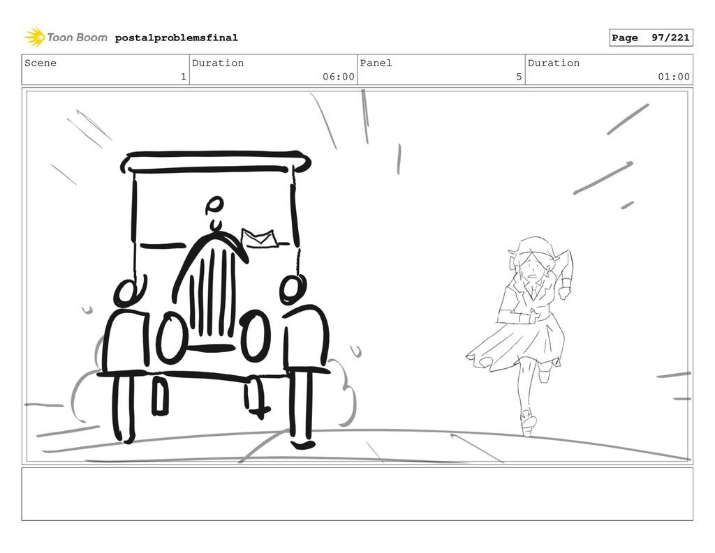 Scene 1 Duration 06:00 Panel 5 Duration 01:00 p...