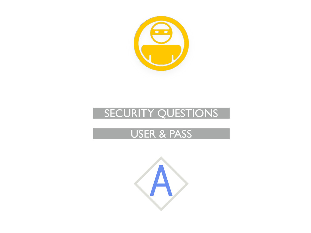 USER & PASS SECURITY QUESTIONS A