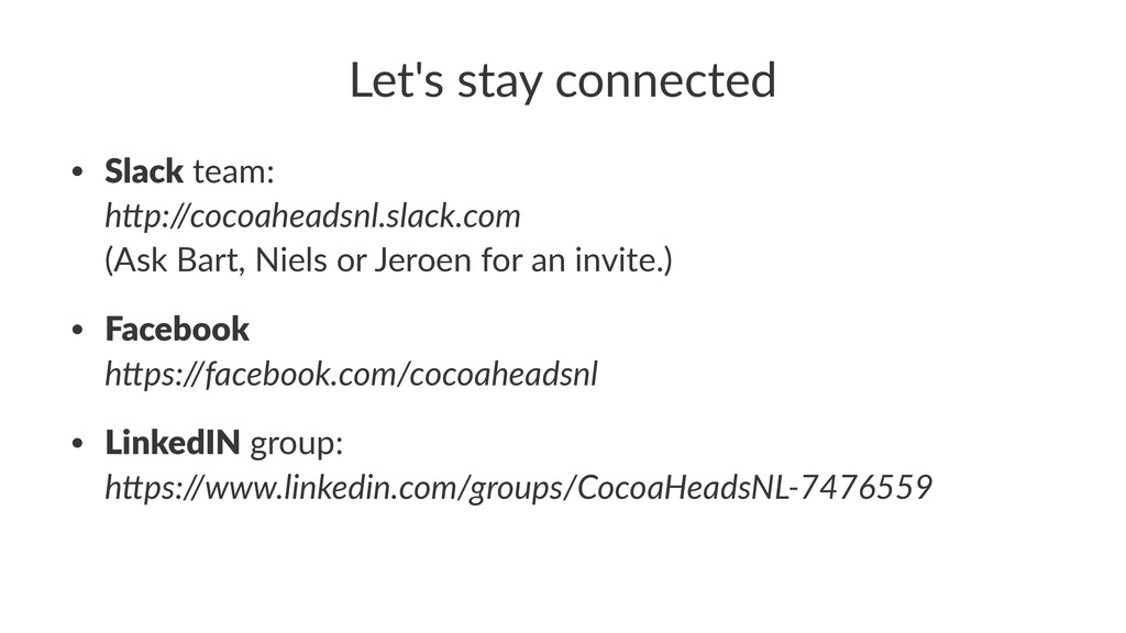 """Let's&stay&connected • Slack""""team: h""""p://cocoah..."""