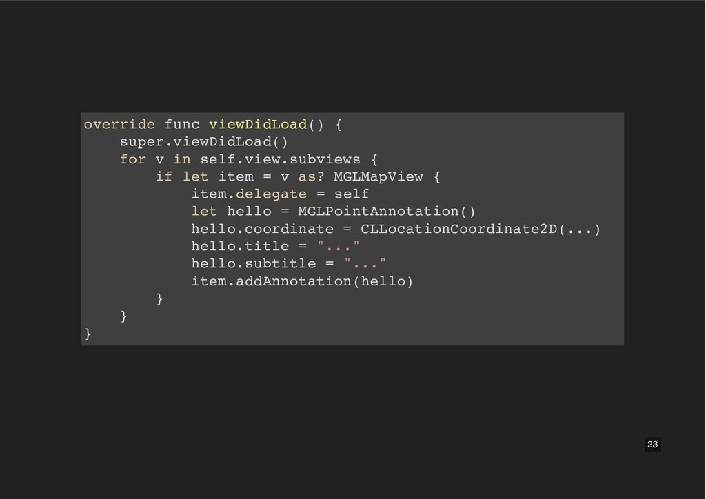 override func viewDidLoad() { super.viewDidLoad...