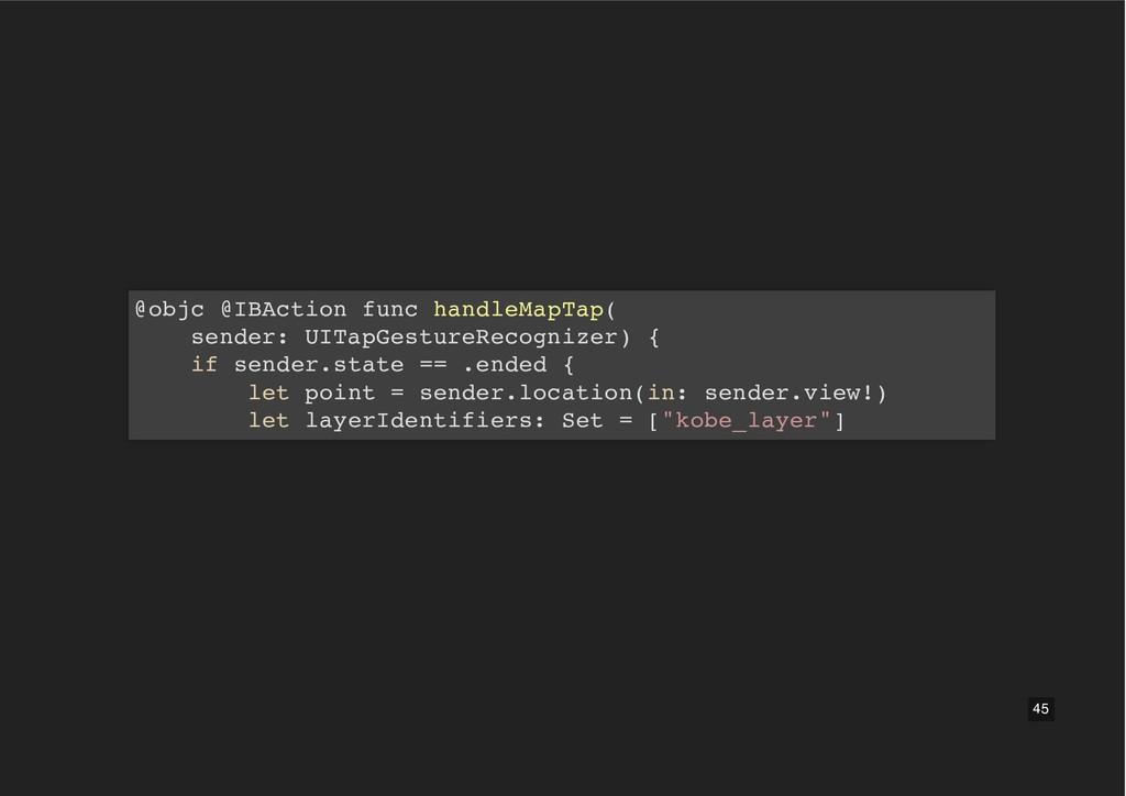 @objc @IBAction func handleMapTap( sender: UITa...