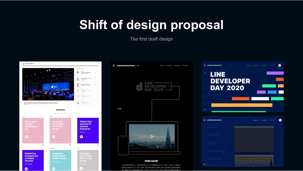 Shift of design proposal The first draft design