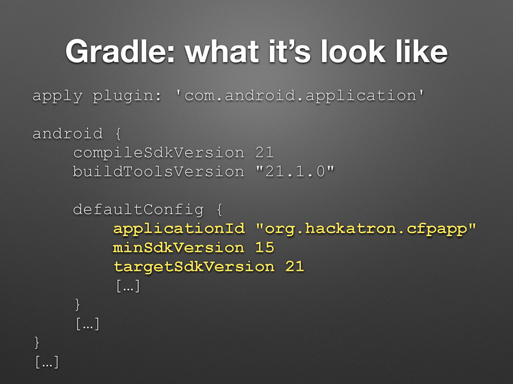 Gradle: what it's look like apply plugin: 'com....