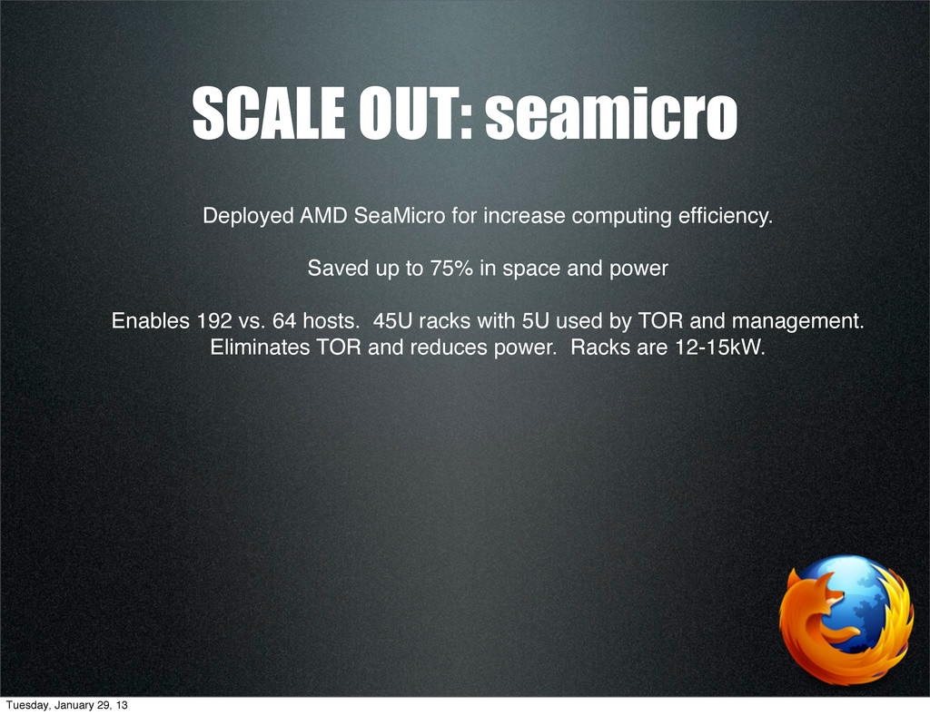 SCALE OUT: seamicro Deployed AMD SeaMicro for i...