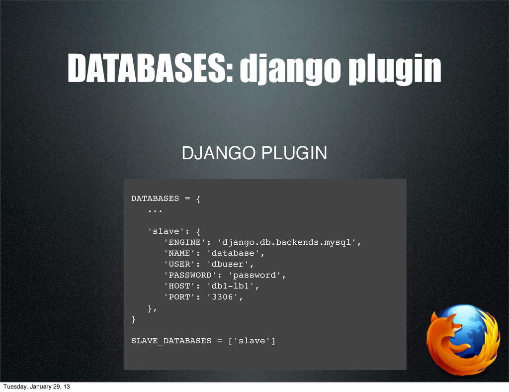 DJANGO PLUGIN DATABASES: django plugin DATABASE...