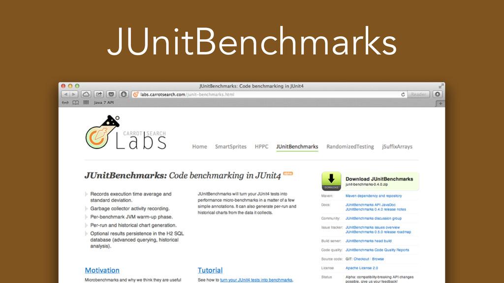 JUnitBenchmarks