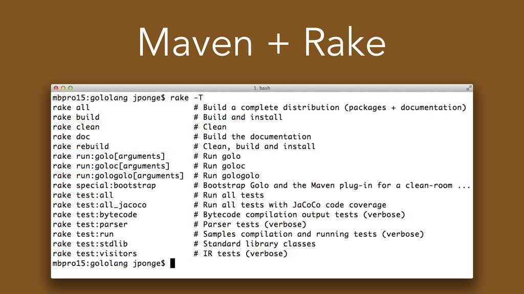 Maven + Rake