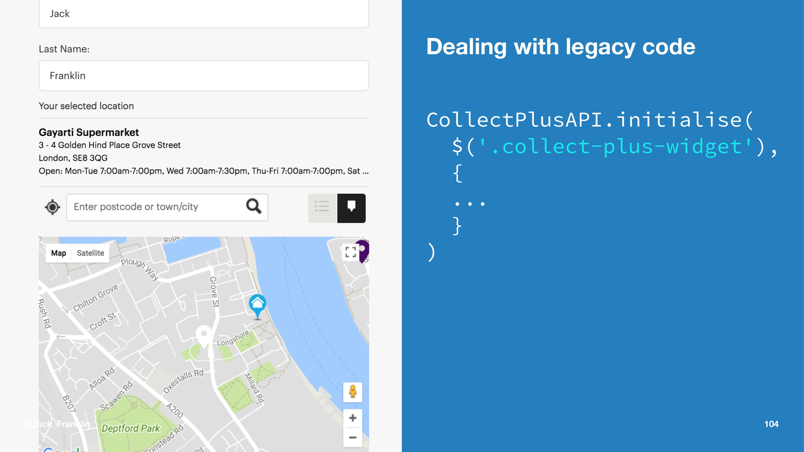 Dealing with legacy code CollectPlusAPI.initial...