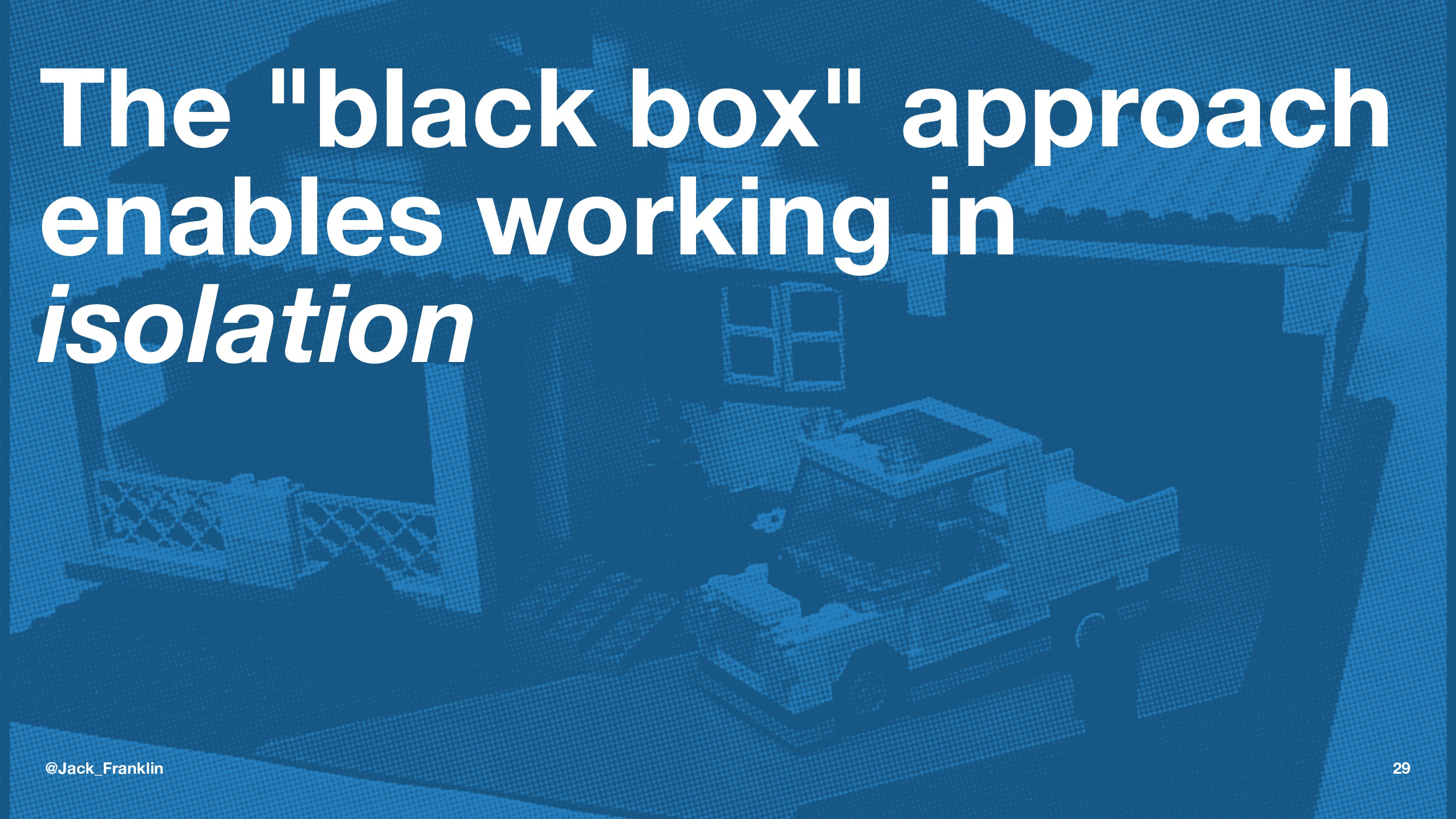 """The """"black box"""" approach enables working in iso..."""