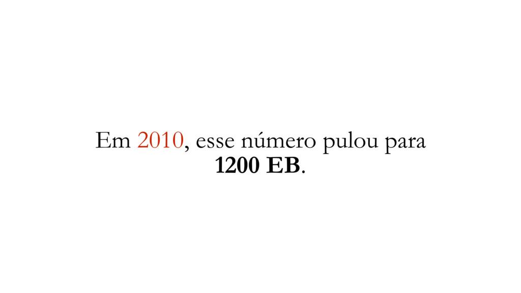Em 2010, esse número pulou para 1200 EB.