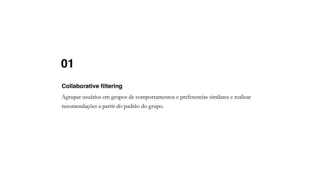 01 Agrupar usuários em grupos de comportamentos...