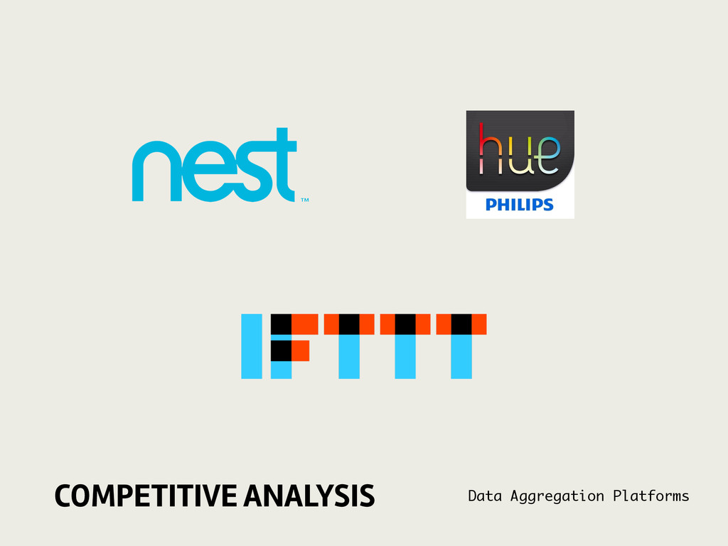COMPETITIVE ANALYSIS Data Aggregation Platforms