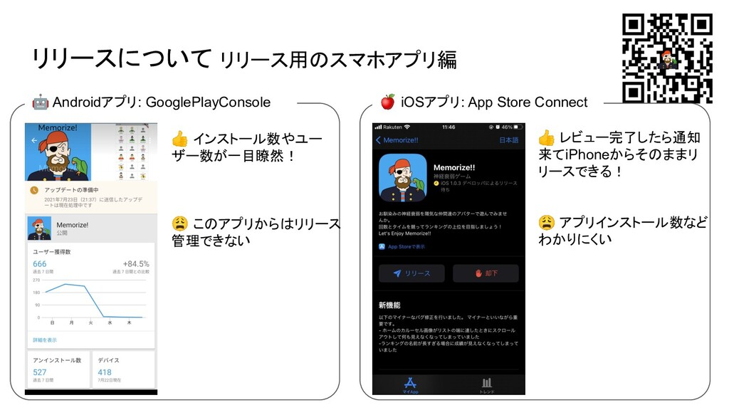 リリースについて リリース用のスマホアプリ編 🤖 Androidアプリ: GooglePlay...