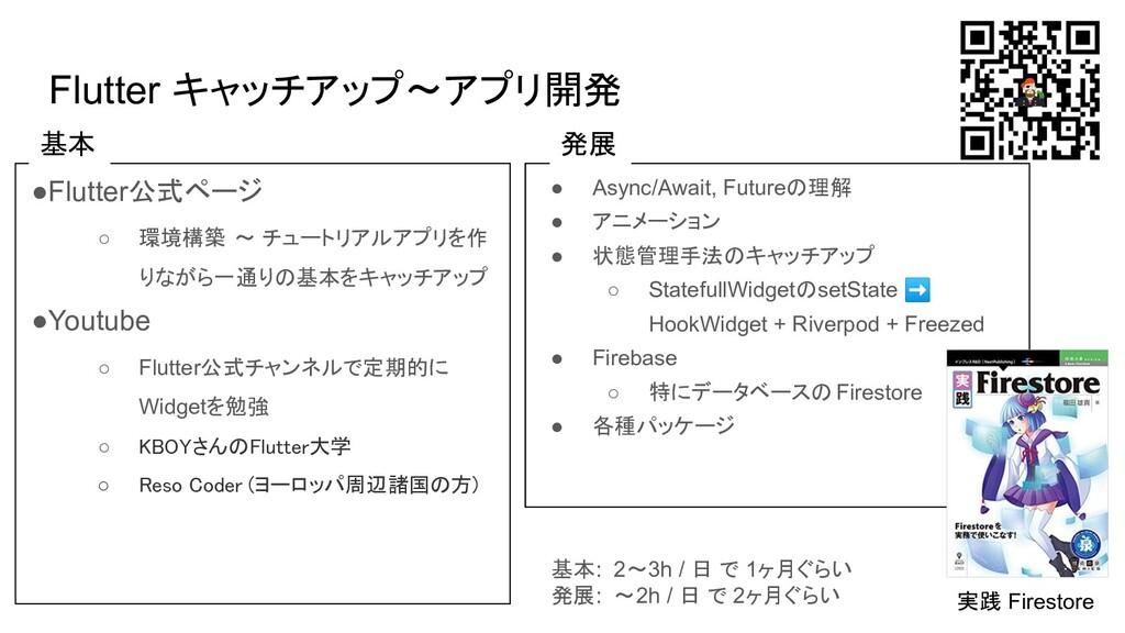 Flutter キャッチアップ〜アプリ開発 ●Flutter公式ページ ○ 環境構築 〜 チュ...