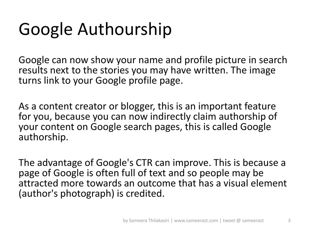 Google Authourship Google can now show your nam...