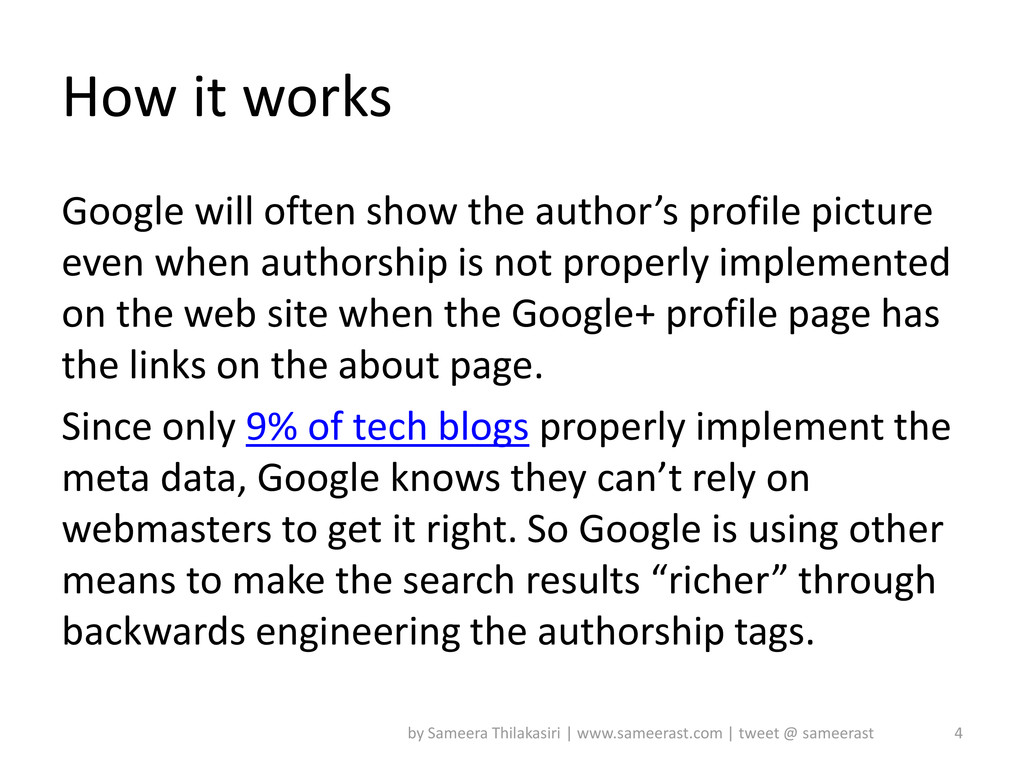 How it works Google will often show the author'...
