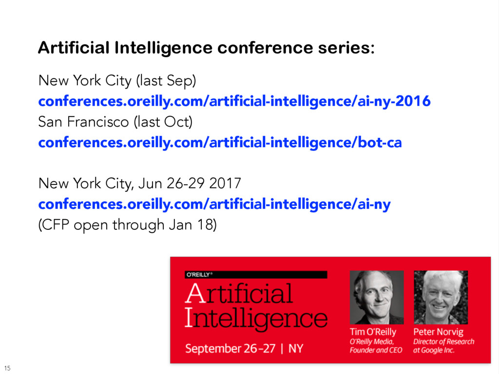Artificial Intelligence conference series: New ...