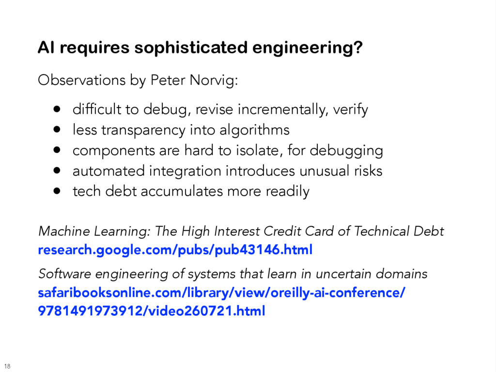 Observations by Peter Norvig: • difficult to de...