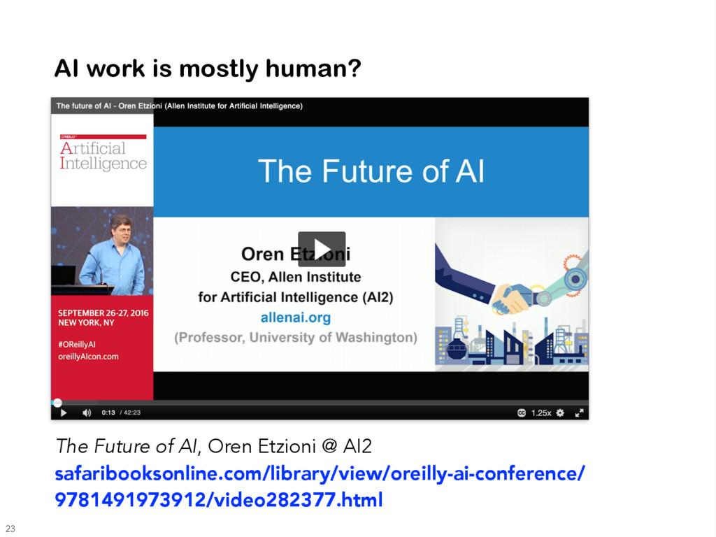 AI work is mostly human? The Future of AI, Oren...