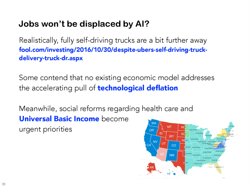 Realistically, fully self-driving trucks are a ...