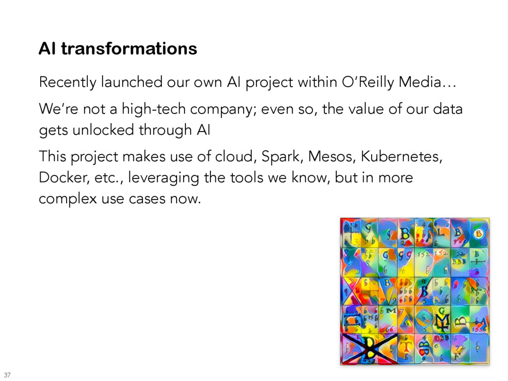 AI transformations Recently launched our own AI...