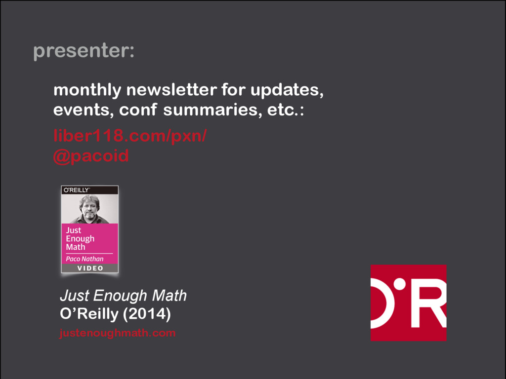 presenter: Just Enough Math O'Reilly (2014) jus...