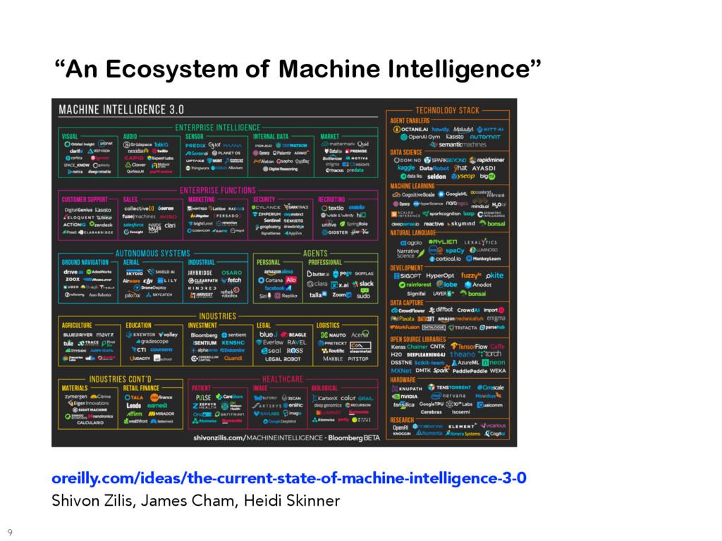 """An Ecosystem of Machine Intelligence"" oreilly...."