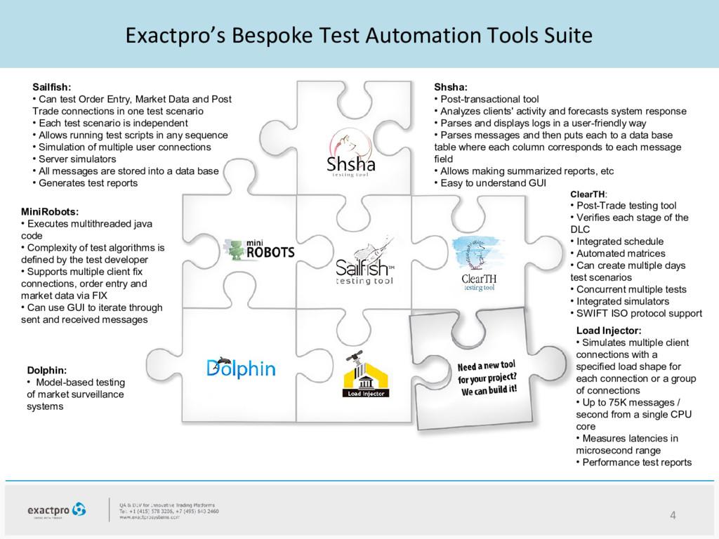 Exactpro's Bespoke Test Automation Tools Suite ...