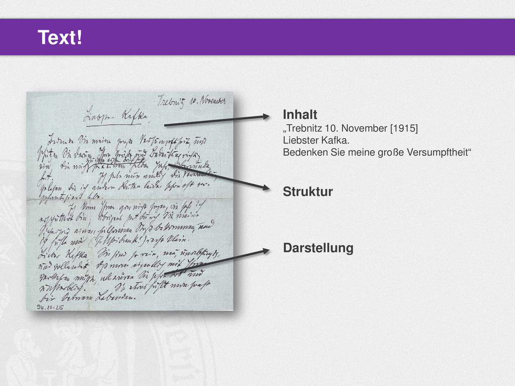 "Text! Inhalt ""Trebnitz 10. November [1915] Lieb..."