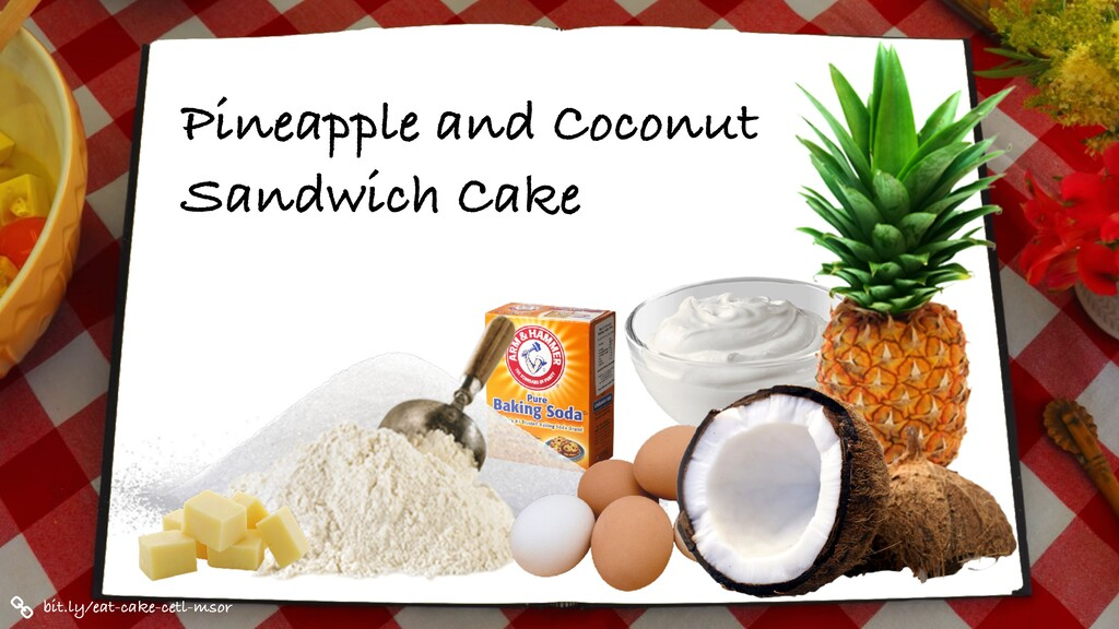Pineapple and Coconut Sandwich Cake bit.ly/eat-...