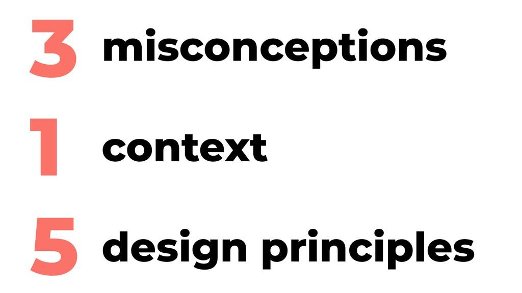 3 1 5 misconceptions context design principles