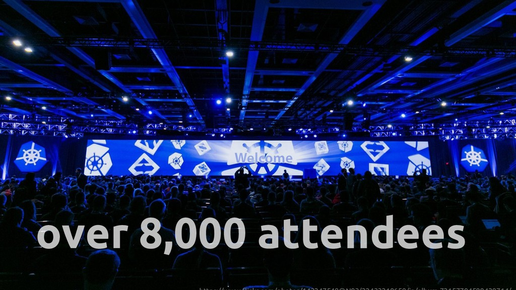 over 8,000 attendees
