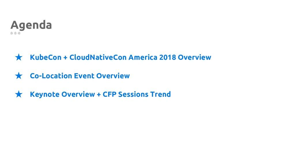 Agenda ★ KubeCon + CloudNativeCon America 2018 ...