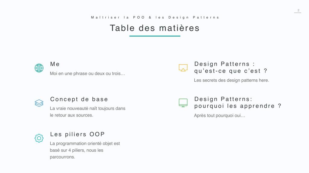 2 Les secrets des design patterns here. D e s i...