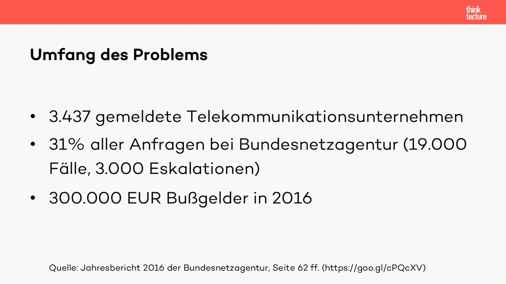 • 3.437 gemeldete Telekommunikationsunternehmen...