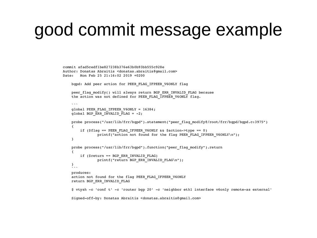 good commit message example commit afad5cedf1be...